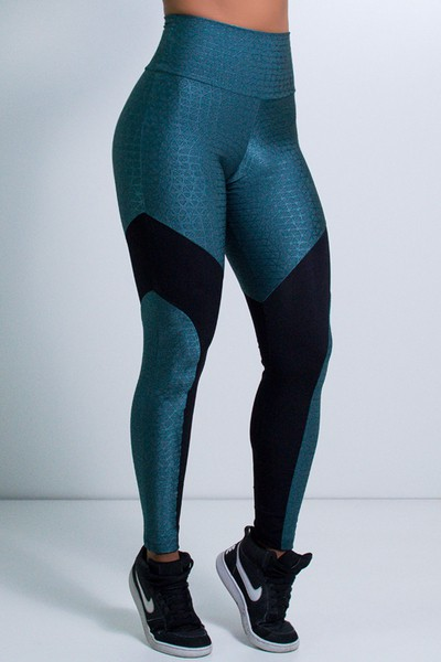 Legging Fitness Recorte V Tule