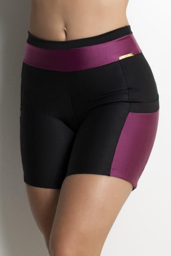 Short Fitness Bicolor com Bolso