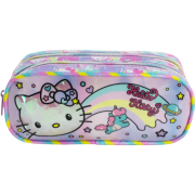 Estojo Duplo Hello Kitty - Rainbow - 8815 - Artigo Escolar