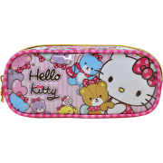 Estojo PVC Flat Hello Kitty Tiny Bears - 7865 - Artigo Escolar