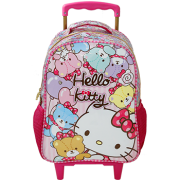 Mala com Rodas 16 Hello Kitty Tiny Bears - 7860 - Artigo Escolar