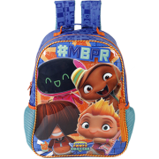 Mochila 14 Mini Beat Power Rockers Rocky Stars - 7753 - Artigo Escolar