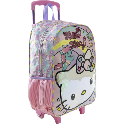 Mala com Rodas 16 Hello Kitty Rainbow - 8810 - Artigo Escolar