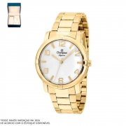 Kit Relógio Champion Feminino Dourado CN25181W