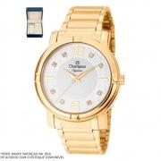 Kit Relógio Champion Feminino Dourado CN25252W