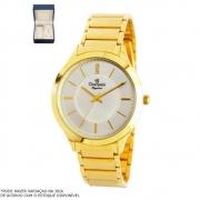 Kit Relógio Champion Feminino Dourado CN25645W