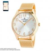 Kit Relógio Champion Feminino Dourado CN26019B