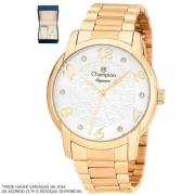 Kit Relógio Champion Feminino Dourado CN26224W