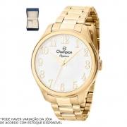 Kit Relógio Champion Feminino Dourado CN27518W