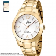 Kit Relógio Champion Feminino Dourado CN28713D