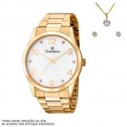 Kit Relógio Champion Feminino Dourado CN29052W