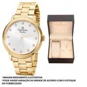 Kit Relógio Champion Feminino Dourado CN29874W
