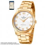 Kit Relógio Champion Feminino Dourado CN29883J