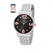 Kit relógio Champion + semijoias  CN24262C