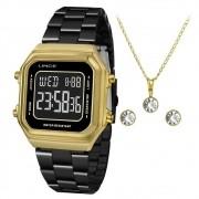 Kit Relógio Feminino Lince  SDG618L KY05PXPX