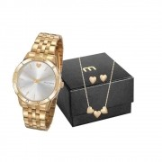 Kit Relógio Mondaine Feminino 32141LPMKDE1K1