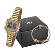 Kit Relógio Mondaine Feminino Digital 53717LPMVDE1K2