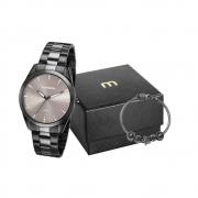 Kit Relógio Mondaine Feminino Preto 53672Lpmvpe2k1