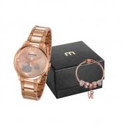 Kit Relógio Mondaine Feminino Rosé 53627LPMVRE2K2