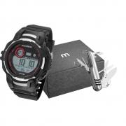 Kit Relógio Mondaine Masculino Preto 11009G0MVNP1K1