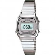 Relógio Casio Feminino Prata LA670WA-7DF