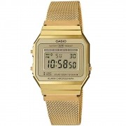 Relogio Casio Unisex Super Slim Dourado Vintage Retro A700wmg-9a