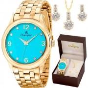 Relógio Champion CN28991Y Dourado/Verde