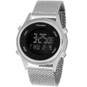 Relógio Champion Digital Unissex CH48082T Prata