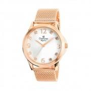 Relógio Champion Elegance CN24093Z Quartz pulseira aço Mesh Rosê