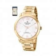 Relógio Champion Feminino Cn28704d + Kit Bijouteria