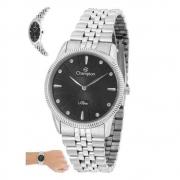 Relógio Champion Feminino Ref: Cs28478t Slim Prateado
