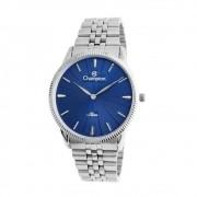 Relógio Champion Masculino Ref: Ca21820a Slim Prateado