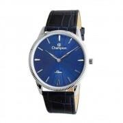 Relógio Champion Masculino Ref: Ca21820f Slim Prateado