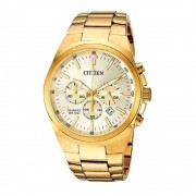 Relógio Citizen Masculino Cronógrafo Quartz Dourado TZ31105G
