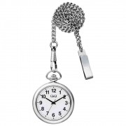 Relógio de Bolso Q&Q Ref: Qa70j214y Clássico Prata