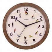 Relógio de Parede Herweg Marrom Madeira 6658323