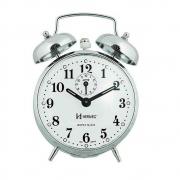 Relógio Despertador Mecânico Herweg Cromado Corda 2370-207