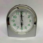 Relógio Despertador Quartz Linea Prata HALLER