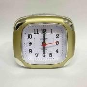 Relógio Despertador Quartz Madri Haller Dourado