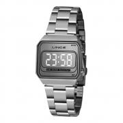 Relógio Digital Lince Unissex Prata Mdm4644l Sxsx