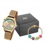 Relógio Feminino Mondaine 99120Lpmvde8K1 Com Semijóia