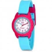 Relógio Infantil Feminino Rosa e Azul Prova D'Água VR97J004Y