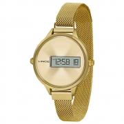 Relógio Lince Digital Clássico Feminino Dourado SDG4635L CXKX