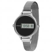 Relógio Lince Digital Clássico Prata / Preto Sdm4637L Pxsx