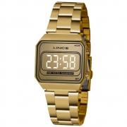 Relógio Lince Digital Feminino Dourado Mdg4644l Cxkx