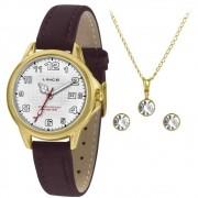 Relógio Lince Feminino + Conjunto Semijóia LRCH104L KW60B2WX