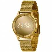 Relógio Lince Feminino Dourado Led Digital LDG4648L CXKX