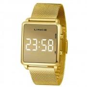 Relógio Lince Feminino Dourado Quadrado Mdg4619l Bxkx