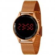 Relógio Lince Feminino Led Rose Ldr4647l Pxrx
