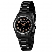 Relógio Lince Feminino Preto Analógico LRNJ099L P2PX